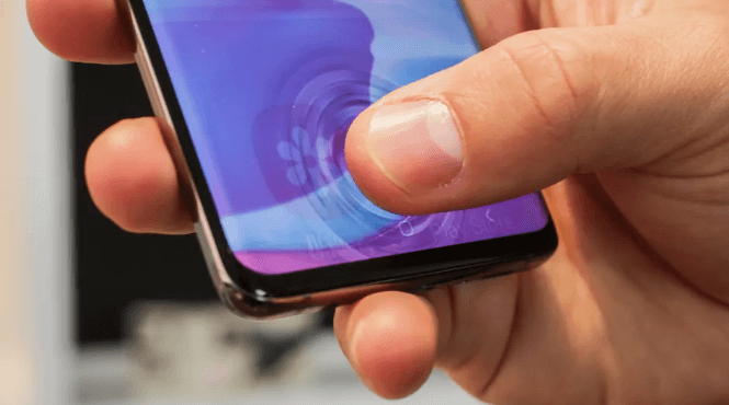 scanner di impronte digitali galaxy s10