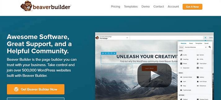 Migliori Temi WordPress: Beaver Builder