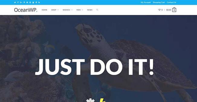 Migliori Temi WordPress: OceanWP