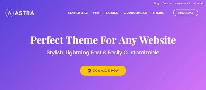 Migliori Temi WordPress: Astra