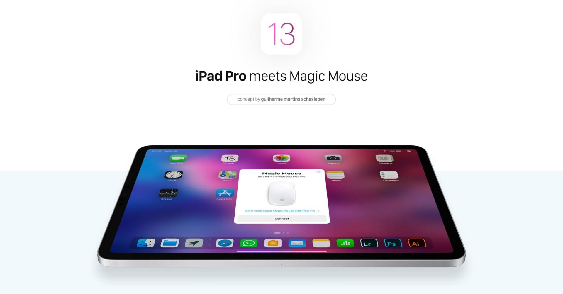 Concept per iOS 13: mouse, app a finestre e molto altro