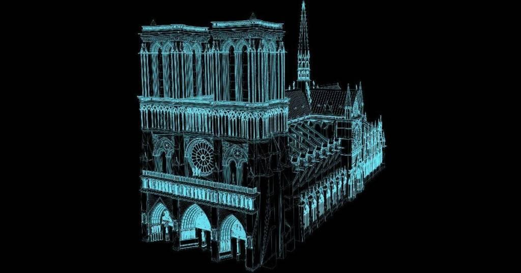 Notre Dame Ricostruzione 3D