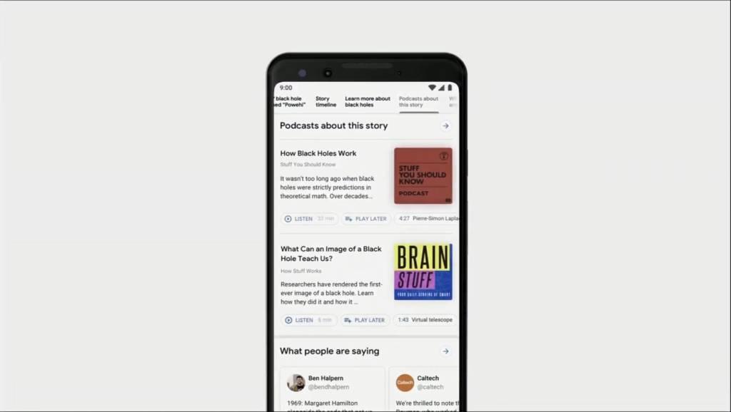 Google Search novità Podcast