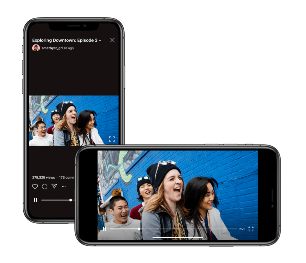 IGTV video in orizzontale