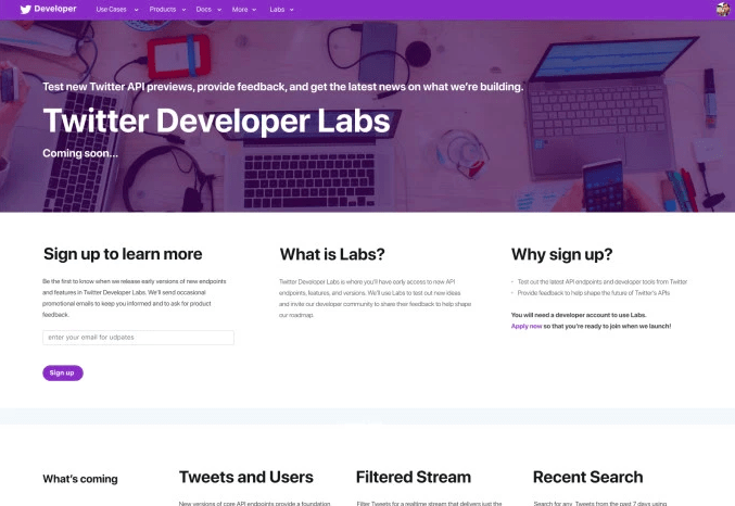 Twitter Developer Labs