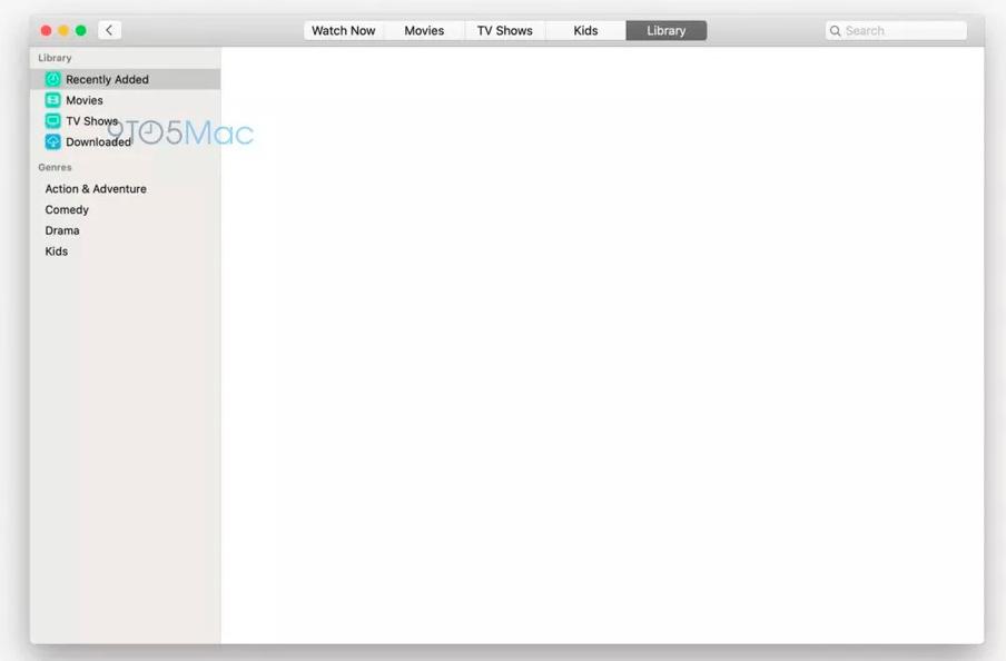 macos 10.15: app tv