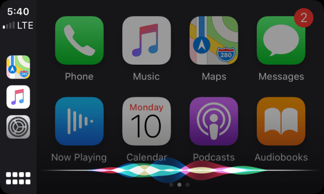 Siri sul nuovo Apple carplay iOS 13