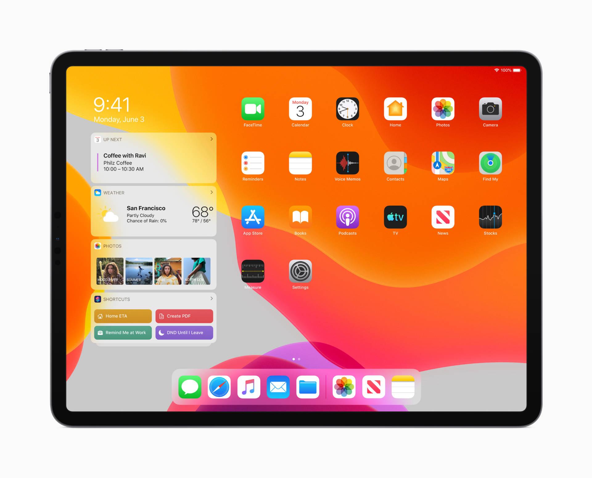 I nuovi gesti per iPad in iPadOS a 2, 3 o 4 dita