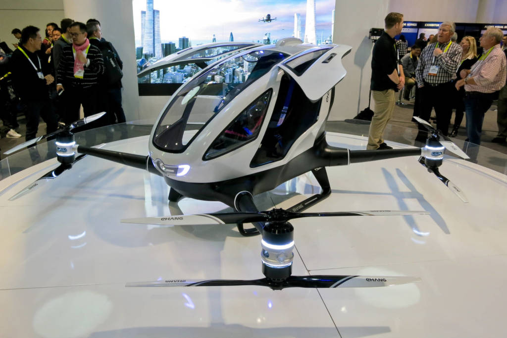 Droni volanti Passenger Drone