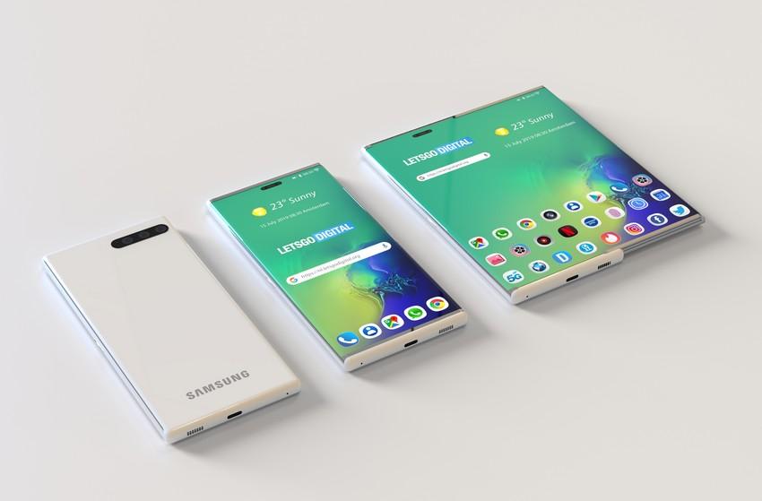 Samsung estendibile render 3D