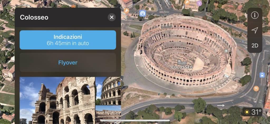 App per le vacanze Apple Maps