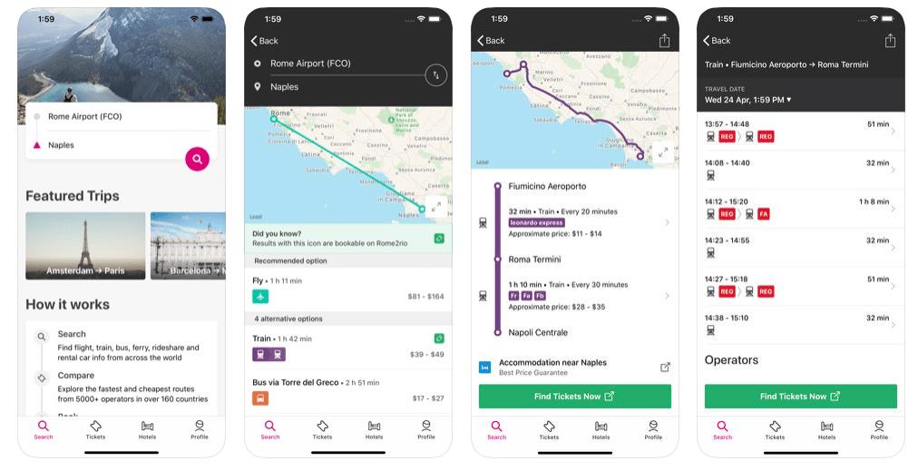 App pianificare itinerario