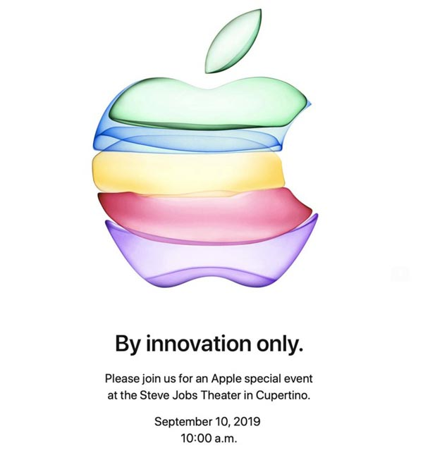 Inviti keynote Apple 2019
