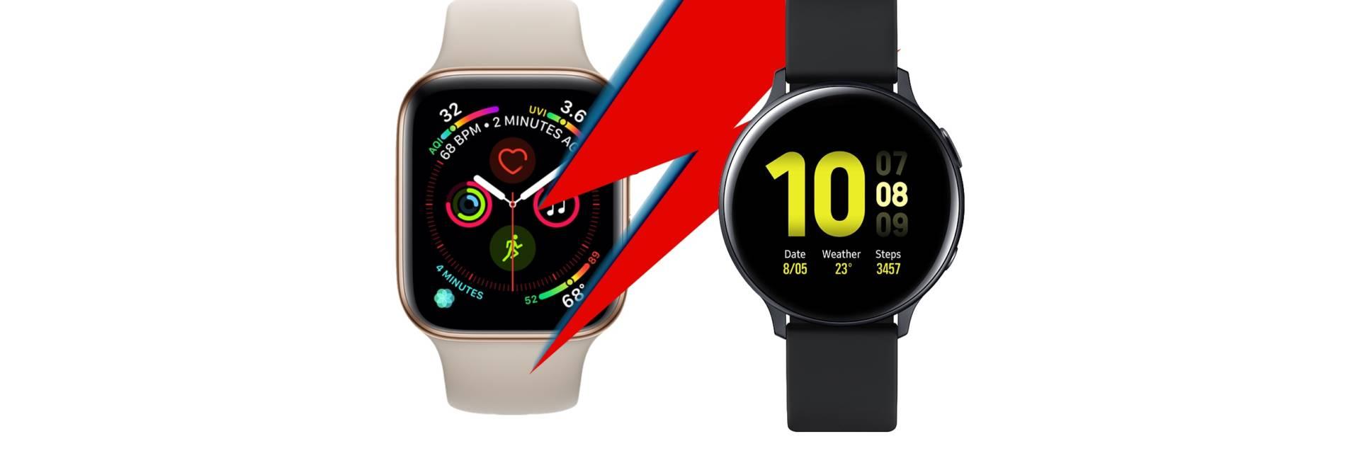 Samsung Galaxy Watch Active 2 vs Apple Watch Series 4: il confronto