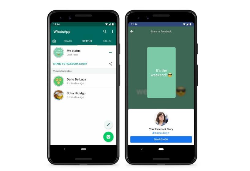 Condivisione Stati WhatsApp