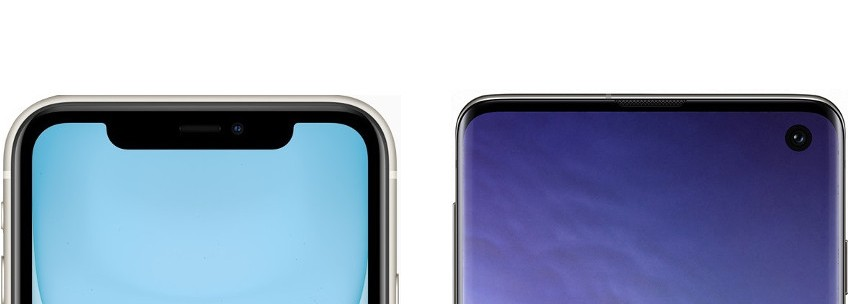 Design iPhone 11 e Galaxy S10