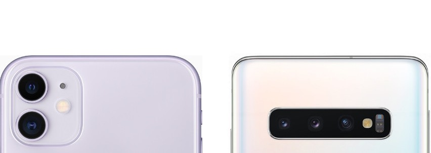 Fotocamere iPhone 11 vs Galaxy S10