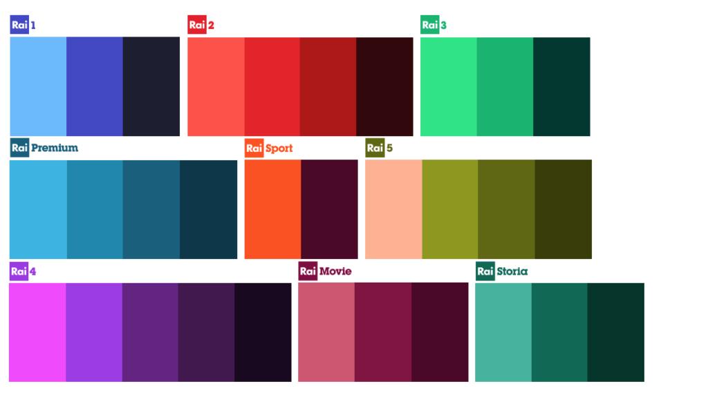 rebranding rai: palette nuovo logo