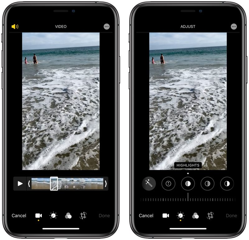 video editing in ios 13