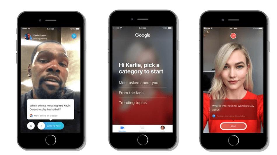 Google Cameos schermata app