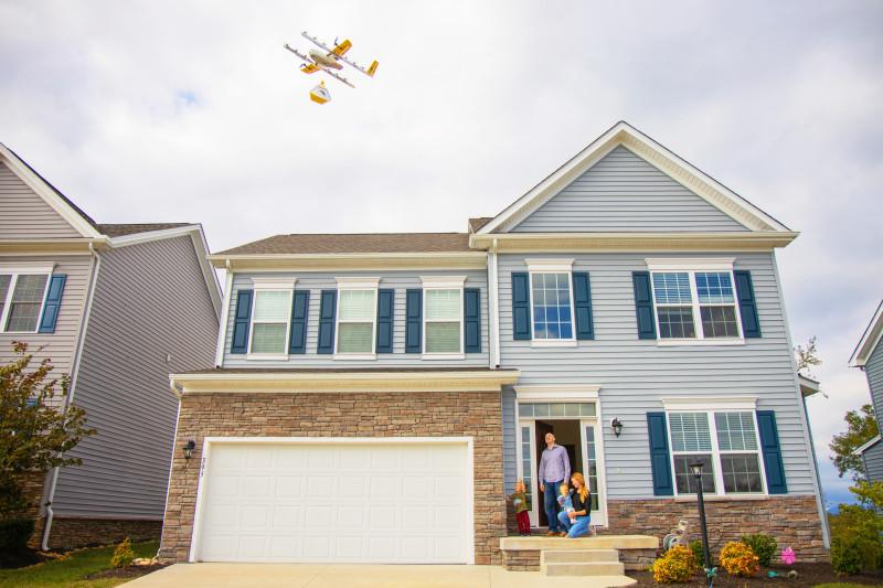 consegna online con i droni a casa