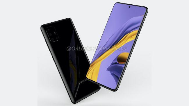 Samsung Galaxy A51 rendering