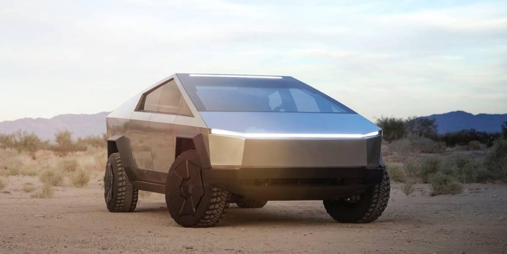 Tesla Cybertruck anteriore