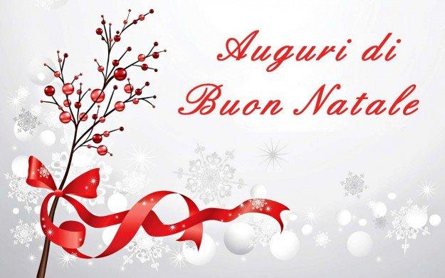 Auguri Buon Natale con neve