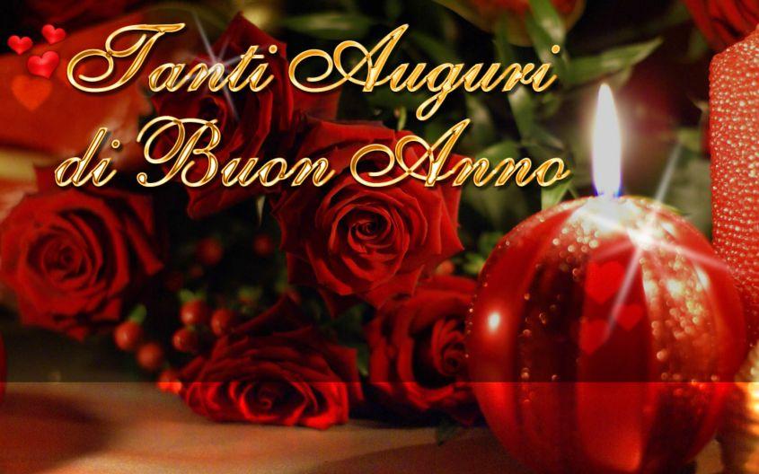 buon anno rose rosse