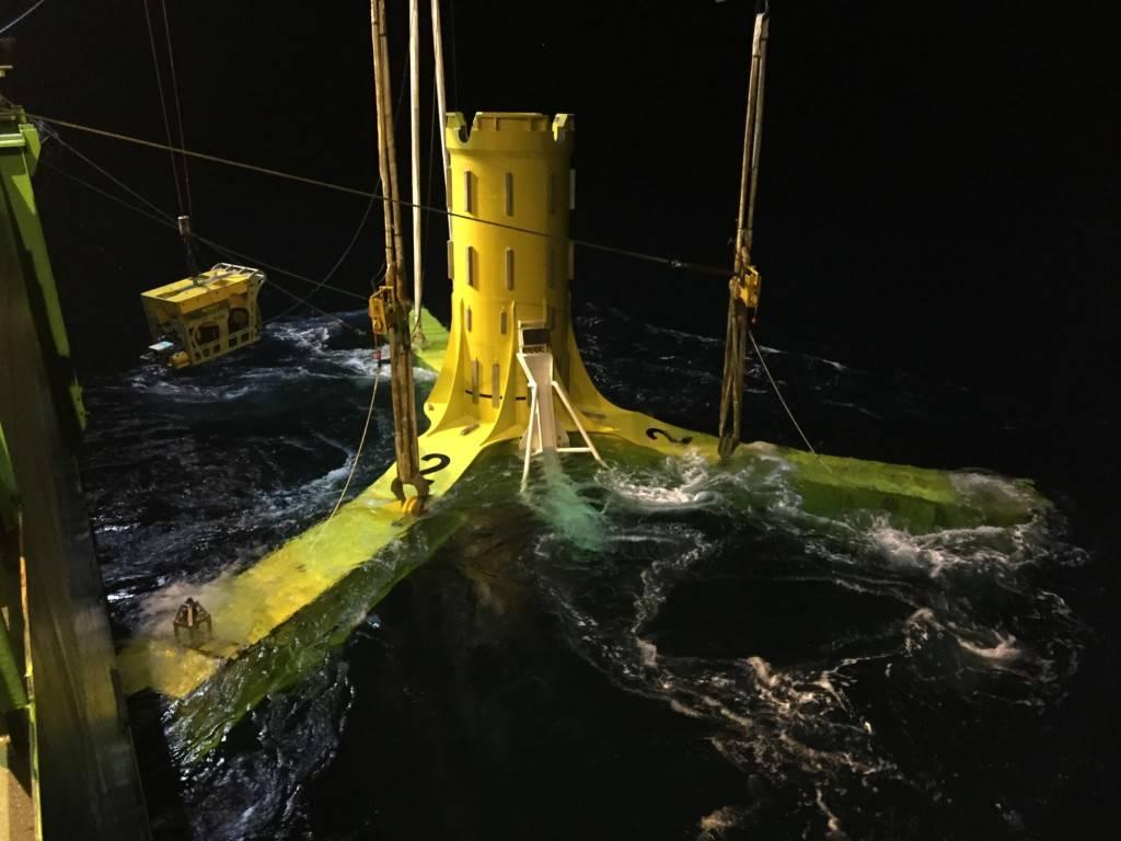 Turbina per energia mareomotrice