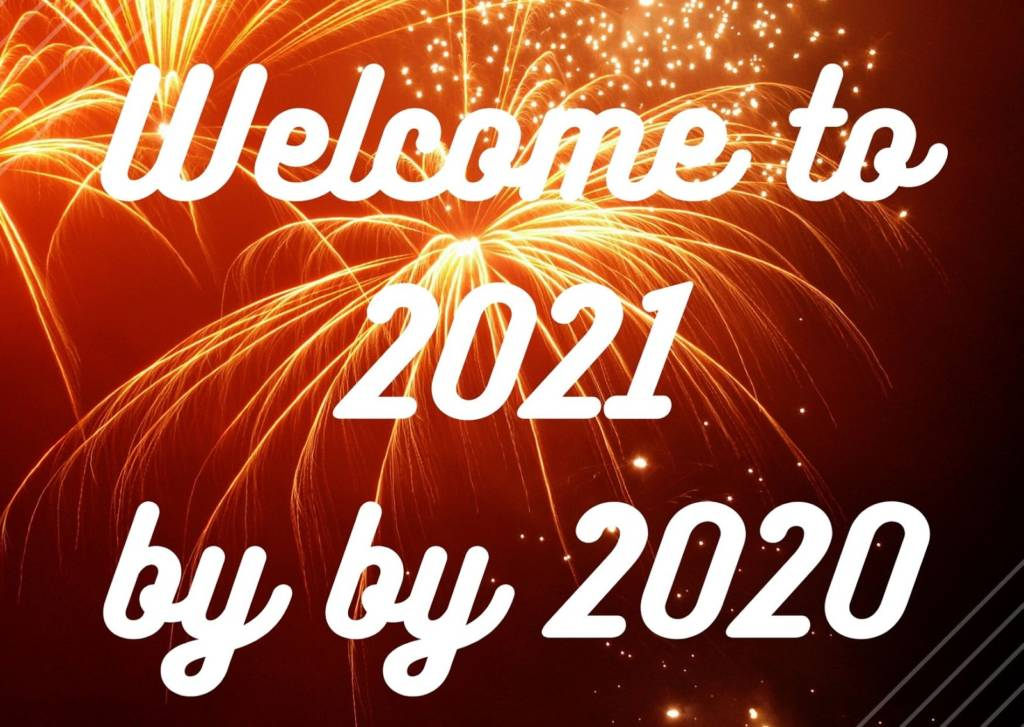 goodbye 2020 con fuochi d'artificio