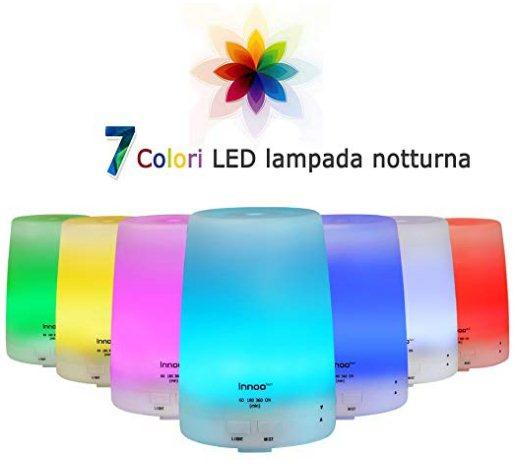 lampada notturna con diffusore