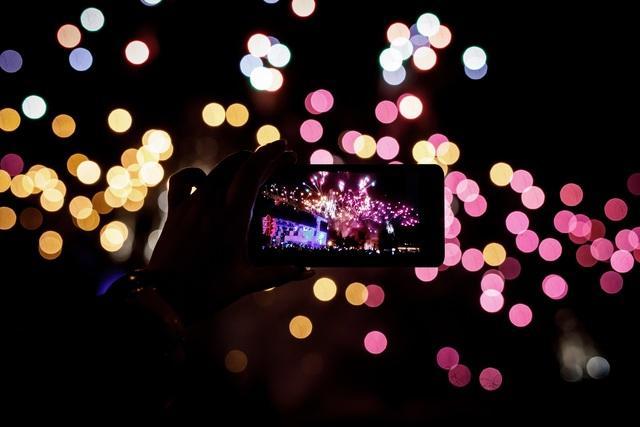 uso dello smartphone a capodanno