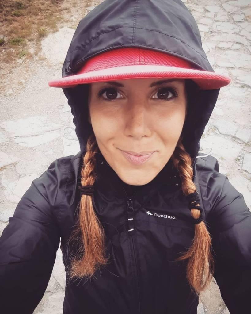 Daniela Collu durante il Cammino di Santiago