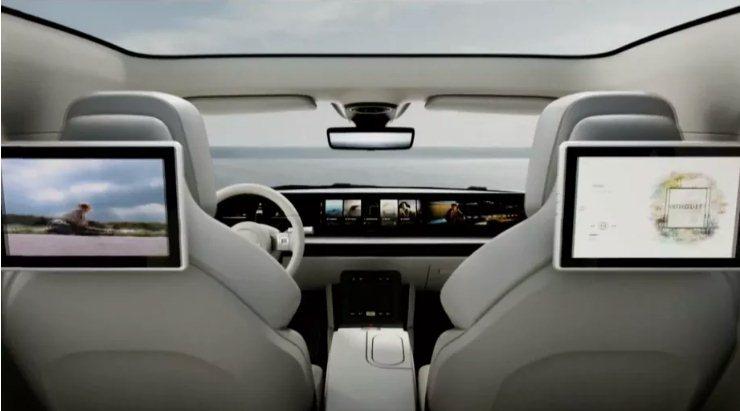 interni auto elettrica Sony