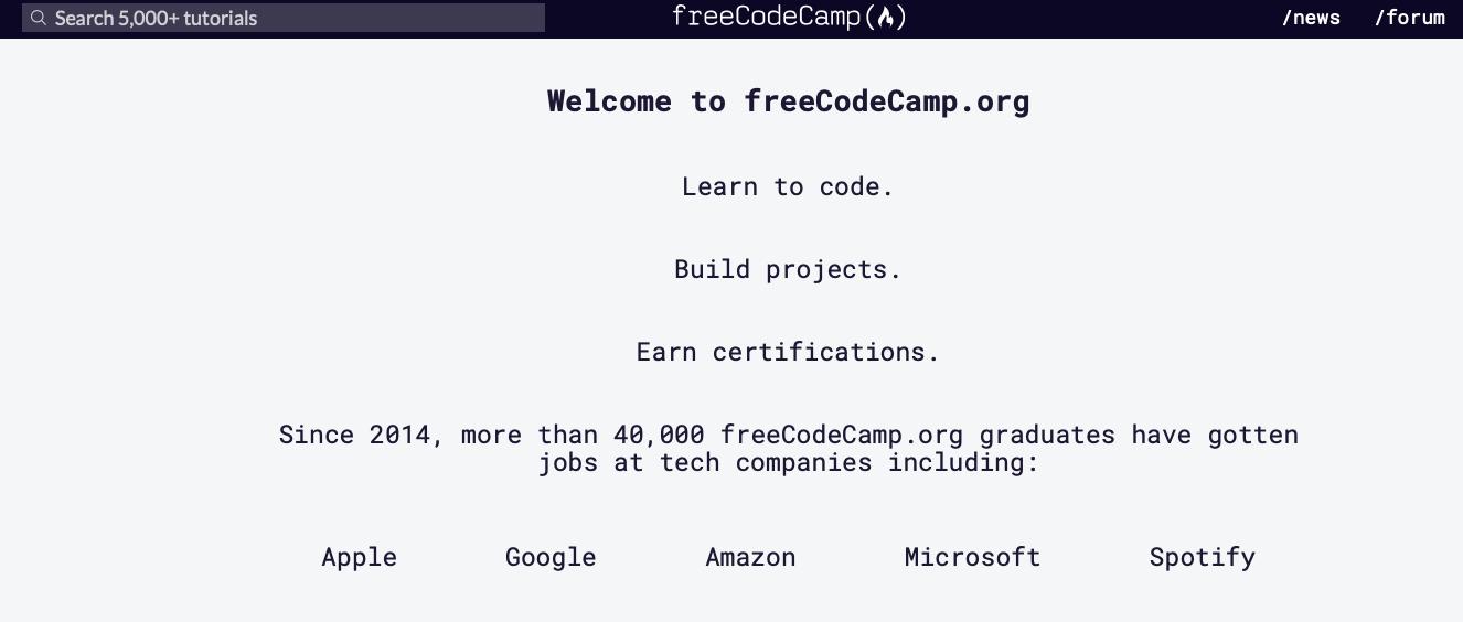 Free Code Camp Imparare a programmare: