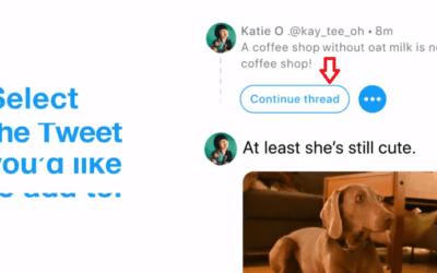 Connettere più tweet insieme, la nuova opzione su Twitter