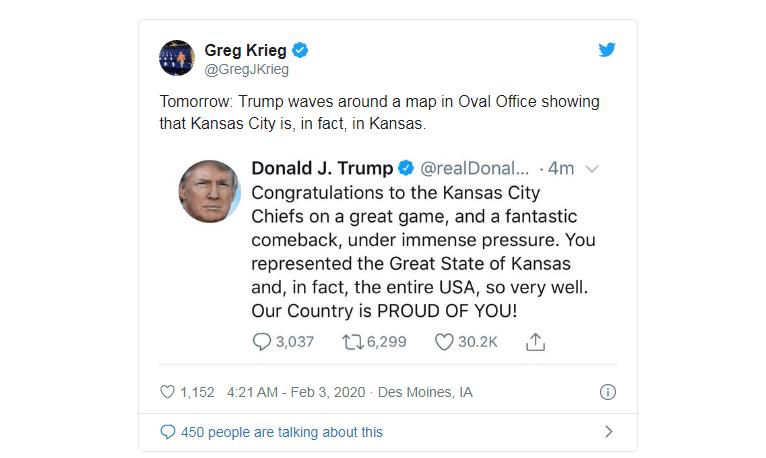 tweet Trump con gaffe