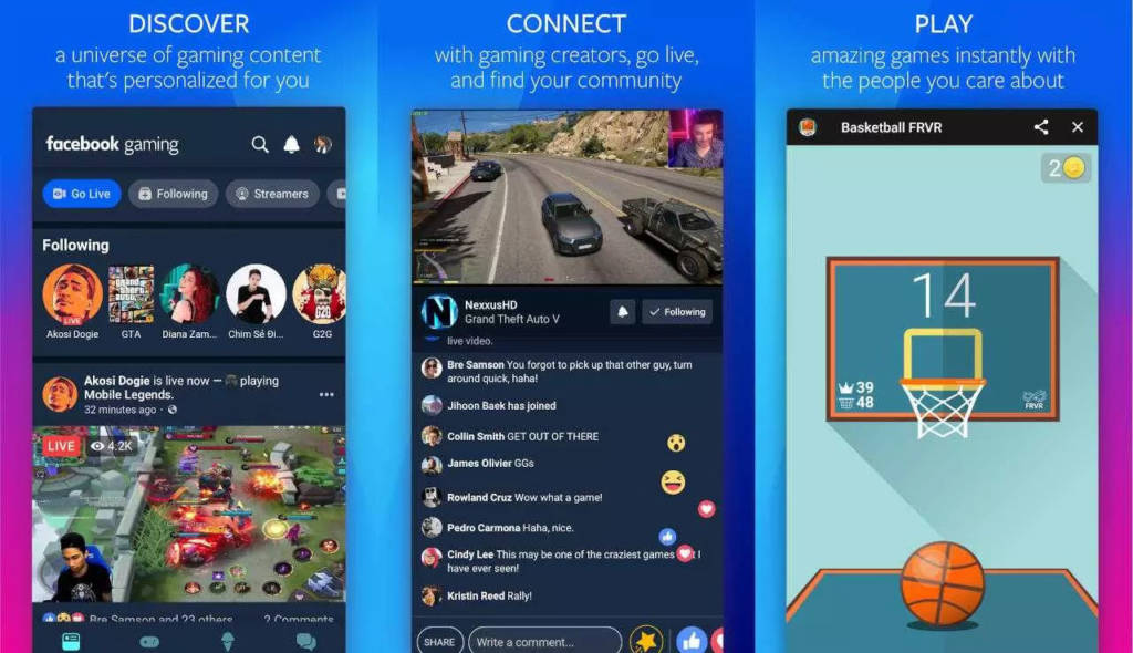 Facebook Gaming livestreaming, giochi e community