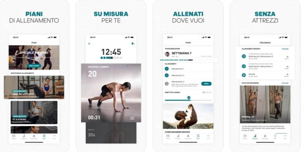 app gratuite per ellenarsi a casa adidas