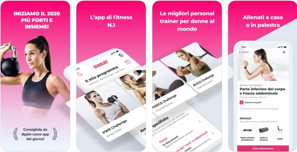 app fitness gratis per allenarsi a casa SWEAT