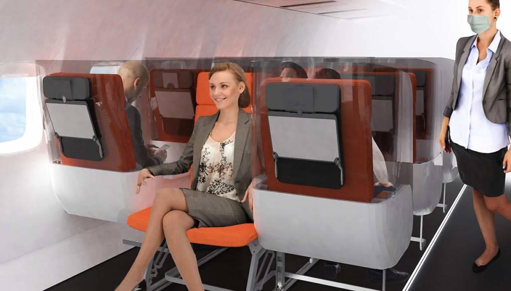 plexiglass protettivo per sedili aereo