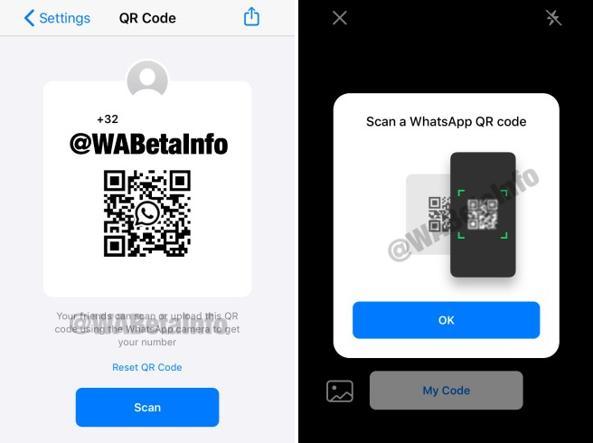scansione QR code contatti WhatsApp