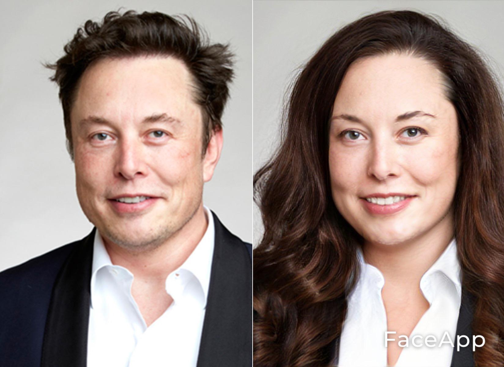FaceApp Elon Musk