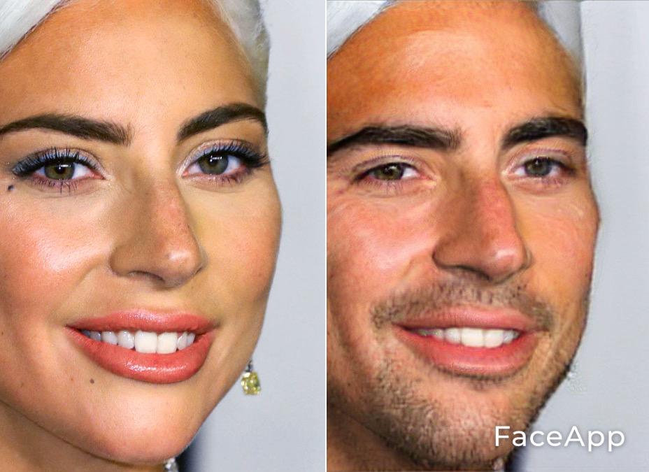 FaceApp Lady Gaga