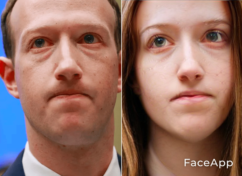 FaceApp Mark Zuckerberg