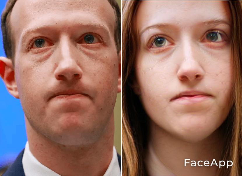 FaceApp Mark Zuckerberg