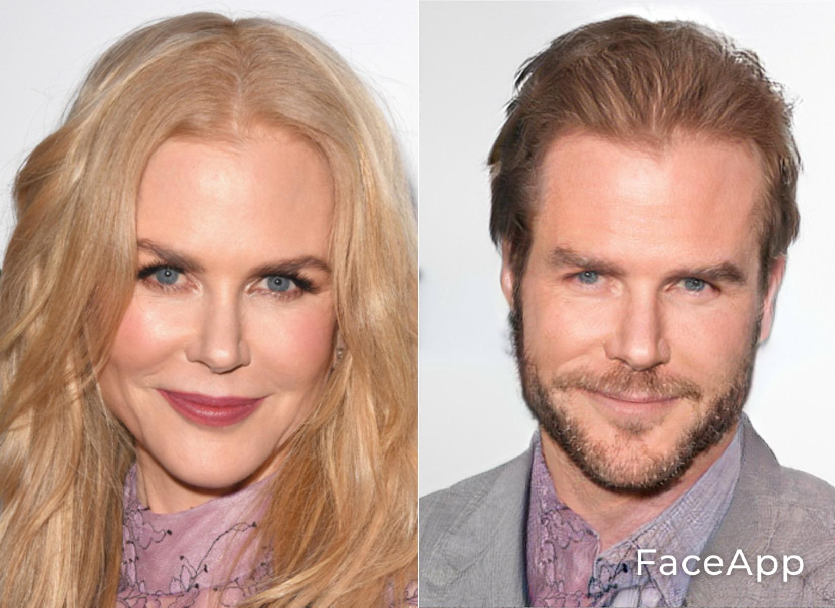 FaceApp Nicole Kidman