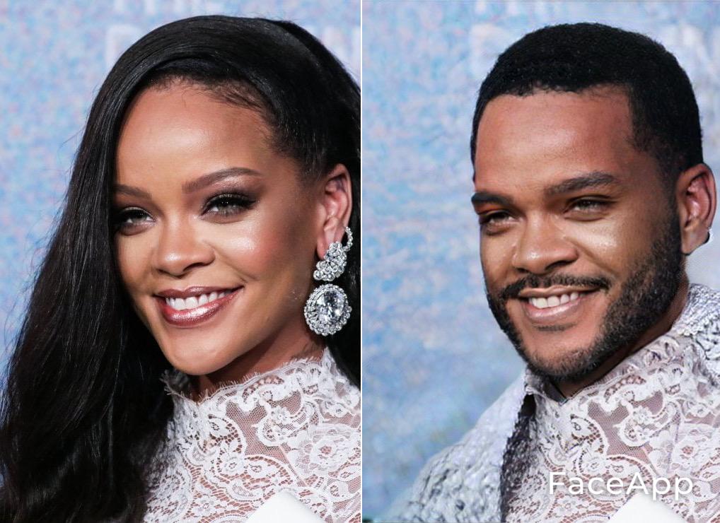 FaceApp Rihanna