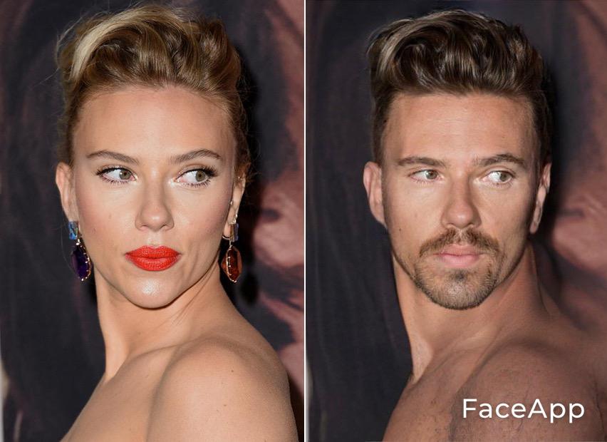 FaceApp Scarlett J